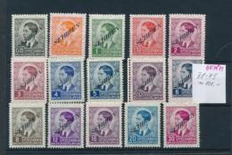 Serbien  Nr. 31-45 **    (oo7871  ) Siehe Scan - Besetzungen 1938-45