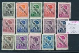 Serbien  Nr. 1-15   **    (oo7870  ) Siehe Scan - Occupation 1938-45