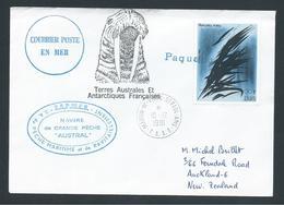 French Antarctic Territory 1981 Paquebot Cover To New Zealand - Terres Australes Et Antarctiques Françaises (TAAF)
