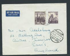 Egypt 1956 Paquebot Cover Port Said To Lancashire England - Egypt