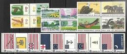 US  1968-70  3 Blocks, 1 Strip Of 10 MNH  2016 Scott Value $6.65 - Ungebraucht