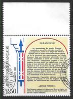 FRANCE 2605 Bicentenaire De La Déclaration Des Droits De L'homme Et Du Citoyen. Faisceau De Licteur Articles XII à XVII - Gebruikt