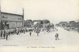 Marseille - Le Prado Vu De La Plage - Le Nouveau Casino - Phototypie E. Lacour, Carte N° 171 Non Circulée - Castellane, Prado, Menpenti, Rouet