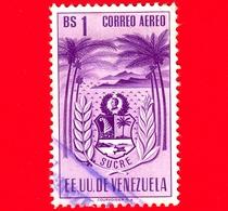 VENEZUELA - Usato - 1952 - Stemma Dello Stato Di Sucre - Arms - 1 Bs - Posta Aerea - Venezuela