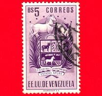 VENEZUELA - Usato - 1953 - Stemma Dello Stato Di Apure - Arms - Bs 5 - Venezuela