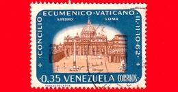 VENEZUELA - Usato - 1963 - Concilio Ecumenico Vaticano II - Roma, Piazza S. Pietro - 0.35 - Venezuela