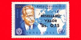 VENEZUELA - Usato - 1965 - Primo Anniversario Della Morte Di Dag Hammarskjold - Premio Nobel Pace 1961 - 0.15 Su 0.80 - Venezuela