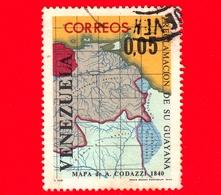 VENEZUELA - Usato - 1965 - Rivendicazione Territoriale Di  Guyana - Mappa Dei Codazzi Del 1840 - 0.05 - Venezuela