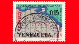 VENEZUELA - Usato - 1965 - Rivendicazione Territoriale Di  Guyana - Mappa Di Restrepo Del 1827 - 0.15 - Venezuela