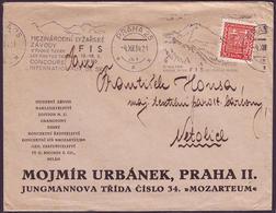 Czechoslovakia - 1934 - Sport - Letter - Ski