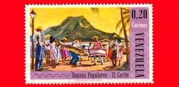 VENEZUELA - Usato - 1966 - Danze Popolari - 'El Carite' Dance - 0.20 - Venezuela