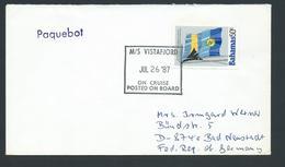 Bahamas 1987 Paquebot Cover To Germany Ship Vistafjord - Bahamas (1973-...)