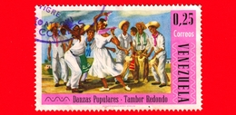 VENEZUELA - Usato - 1966 - Danze Popolari - 'Tambor Redondo' - 0.25 - Venezuela