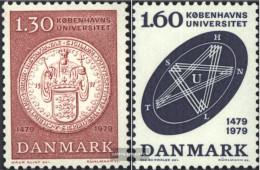 Denmark 677-678 (complete Issue) Unmounted Mint / Never Hinged 1979 University Copenhagen - Denmark