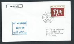 Scotland 1984 Paquebot Cover To West Germany Ship Vistafjord Bahamas Adhesive - 1952-.... (Elizabeth II)