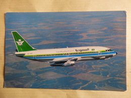 SAUDIA   B 737 200    AIRLINE ISSUE / CARTE COMPAGNIE - 1946-....: Ere Moderne