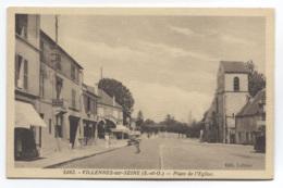 78 - VILLENNES-SUR-SEINE - RUE PLACE DE L'EGLISE - COMMERCES DONT COIFFEUR - VOIR ZOOM - Villennes-sur-Seine