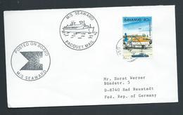 Bahamas 1988 Paquebot Cover Nassau To Germany Ship Seaward - Bahamas (1973-...)