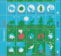 Netherlands 1683-1702 Folienbogen (complete Issue) Unmounted Mint / Never Hinged 1998 December Marks - Period 1980-... (Beatrix)
