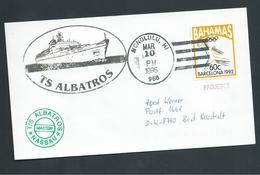 United States Hawaii Paquebot Cover Honolulu To Germany , Ship Albatross , Bahamas Adhesive - Hawaii