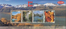 New Zealand Block57 (complete Issue) Unmounted Mint / Never Hinged 1996 Landscapes / CAPEX - Unused Stamps