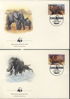WWF  4 FDC 1983 OUGANDA ELEPHANTS  YVERT N°316/19 - FDC