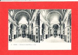 VATICAN ROME ROMA Cpa Stéréoscopique Intérieur De Saint Pierre    4   LL - Vatican