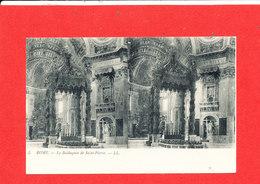 VATICAN ROME ROMA Cpa Stéréoscopique Le Baldaquin  De Saint Pierre   5   LL - Vatican