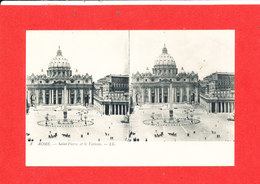 VATICAN ROME ROMA Cpa Stéréoscopique Saint Pierre Et Vatican    3    LL - Vatican