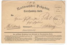 16387 - SONDERBURG - Norddeutscher Postbezirk (Confederazione Germ. Del Nord)