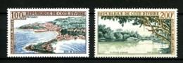 COTE D'IVOIRE - PA  27 Et 28 - 2 Valeurs Paysages - Neufs PA 27 : N** - PA 28 : N* - Très Beaux - Côte D'Ivoire (1960-...)