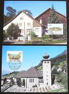 LIECHTENSTEIN 1998 Mi-Nr. 1177/78 Maximumkarten MK/MC 160 - Cartes-Maximum (CM)