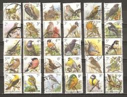 Belgique - Buzin - Oiseaux - Petit Lot De 86 Différents Oblitérés Avec Cachets Ronds (sauf 3) - Recommandé - 3 Scans - Vrac (max 999 Timbres)