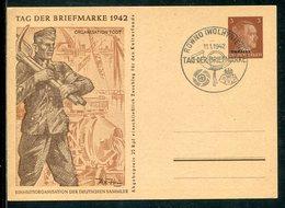 """D.Bes.39/45-Ukraine / 1942 / Sonderpostkarte Mi. P 4/04 """"Organisation Todt"""" So-Stempel ROWNO (12462) - Besetzungen 1938-45"""