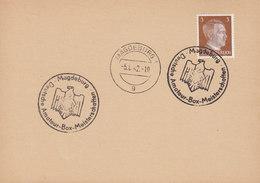 Germany Deutsches Reich Sonderstempel 'Deutsche Amateur-Box-Meisterschaften' MAGDEBURG 1942 Card Karte - Briefe U. Dokumente