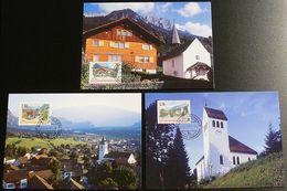 LIECHTENSTEIN 1997 Mi-Nr. 1148/50 Maximumkarten MK/MC 149 - Cartes-Maximum (CM)
