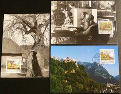 LIECHTENSTEIN 1996 Mi-Nr. 1138/40 Maximumkarten MK/MC 145 - Cartes-Maximum (CM)