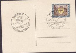 Germany Deutsches Reich Sonderstempel 'Tag Der Briefmarke' HAMBURG 1943 Card Karte Hermes Mercury Alte Postkutsche - Briefe U. Dokumente