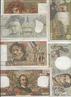 LOT  DE 6  BILLETS - 1962-1997 ''Francs''
