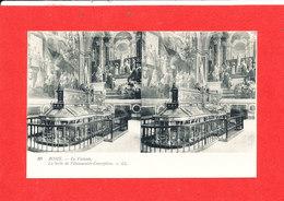 VATICAN ROME ROMA Cpa Stéréoscopique La Salle De L ' Immaculée Copnception  10 LL - Vatican