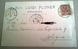 AVV. LUIGI PLONER BOLOGNA - VIAGGIATA 1901    (72) - Pubblicitari