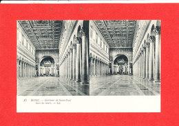 VATICAN ROME ROMA Cpa Stéréoscopique Intérieur De Saint Paul  15   LL - Vatican
