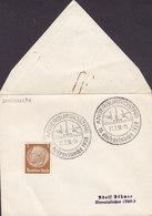 Germany Deutsches Reich Sonderstempel ANGERBURG (Ost Preussen, Now Poland) Eissegelwoche 1938 'Petite' Cover Brief - Briefe U. Dokumente