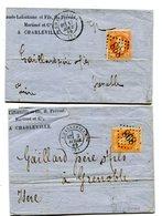 ARDENNES De CHARLEVILLE 2 LAC De 1869 Avec N°31 Oblitéré GC 898 - Postmark Collection (Covers)