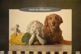CP,  Chien Avec Enfant, Salut Les Canailloux,  Humour, - Chiens