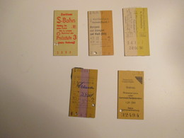Germany GERMANIA N.5 Different Used Tickets S-Bahn Grainau Burgen Bengel Ecc - Railway
