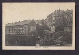 CPA LUXEMBOURG - Casernes - TB PLAN EDIFICE MILITAIRE + Jolie Vue De La Ville Derrière Avec Détails Maisons - Luxemburg - Stad