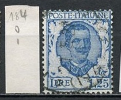 Italie - Italy - Italien 1925-27 Y&T N°184 - Michel N°242 (o) - 1,25l Victor Emmanuel III - Usati