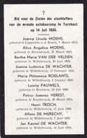 Turnhout, Kapelle-op-den-bos, Willebroek, 1935 - Images Religieuses