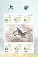 China 2018-22 Wild Goose  Bird Stamp Special Sheet A - Oies